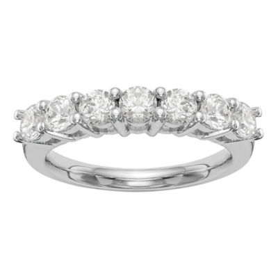 Womens 2.5mm 1 5/8 CT. T.W. Genuine White Diamond 14K White Gold Round Wedding Band