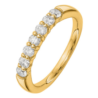 Womens 2.5mm 1/4 CT. T.W. Genuine White Diamond 14K Gold Round Wedding Band