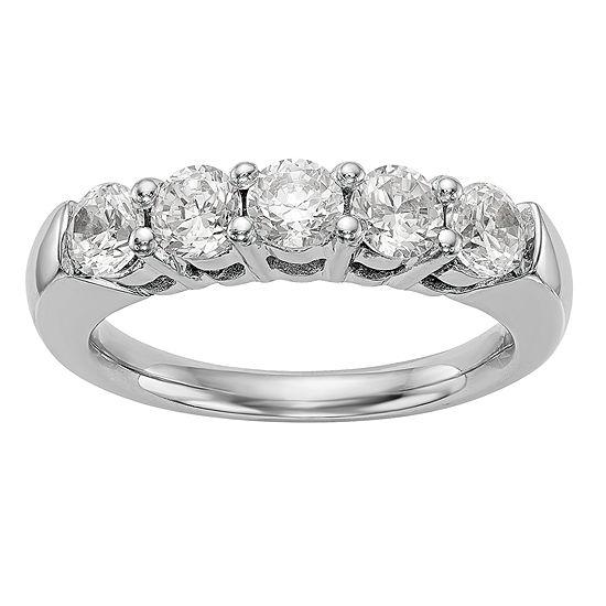 2MM 1 CT. T.W. Genuine White Diamond 14K White Gold Round Wedding Band