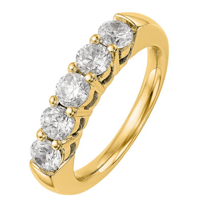 Womens 3mm 1 1/2 CT. T.W. Genuine White Diamond 14K Gold Round Wedding Band