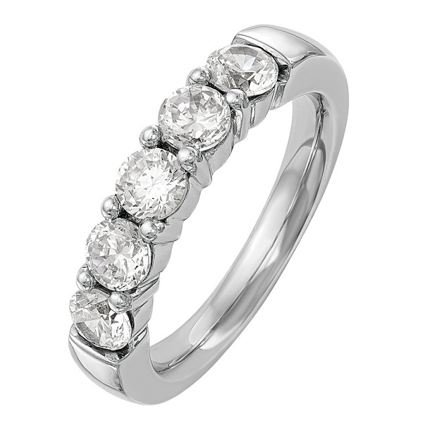 Womens 1/2 CT. T.W. Genuine White Diamond 14K Gold Wedding Band