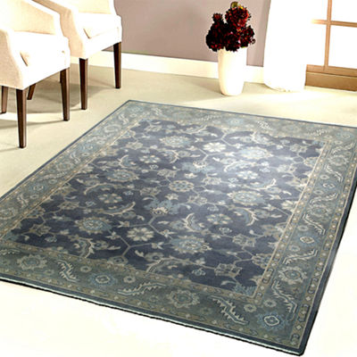 Kareena Traditional Damask Rectangular Rug