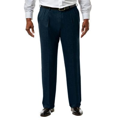 JM Haggar Premium Stretch Sharkskin Classic Fit Pleated Suit Pants - Big & Tall