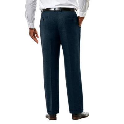 JM Haggar Premium Stretch Sharkskin Classic Fit Pleated Suit Pants - Big & Tall