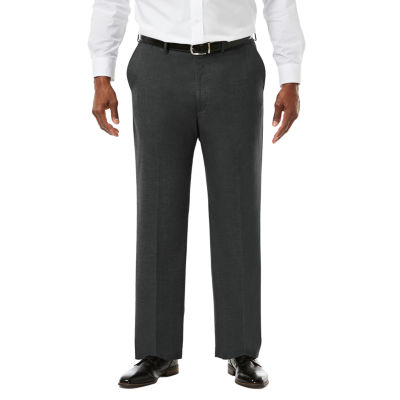 JM Haggar Premium Stretch Sharkskin  Classic Fit Flat Front Suit Pants - Big & Tall