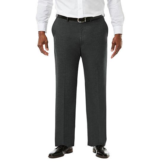 JM Haggar Premium Stretch Sharkskin  Classic Fit Flat Front Suit Pants - Big & Tall