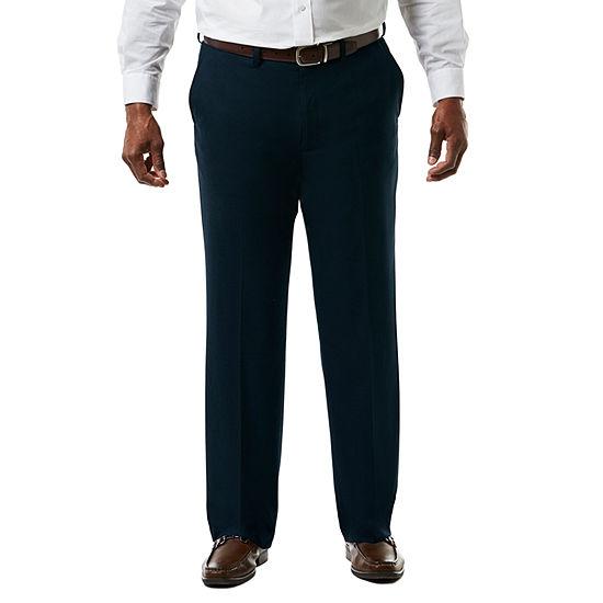 Jm Haggar Premium Stretch Sharkski Classic Fit Flat Front Suit Pants Big Tall
