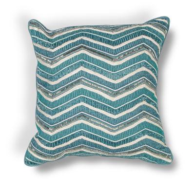 Kas Wave Square Throw Pillow