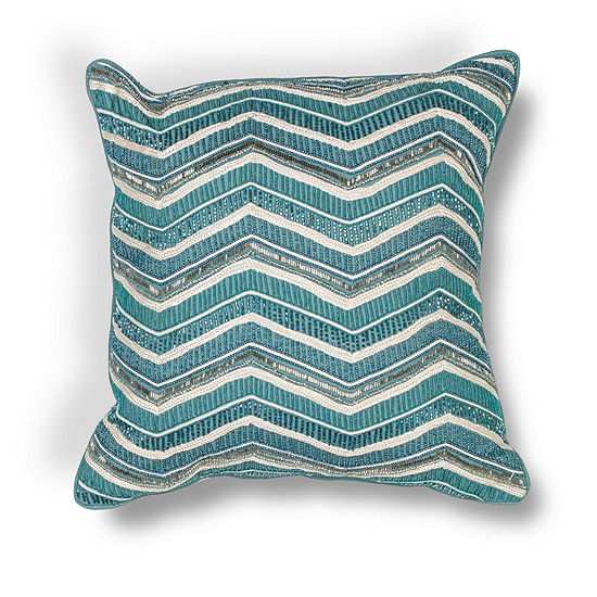 Kas Wave Square Throw Pillow