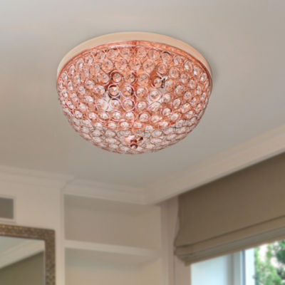 Elegant Designs 2 - Light Elipse Crystal Flush Mount Ceiling Light