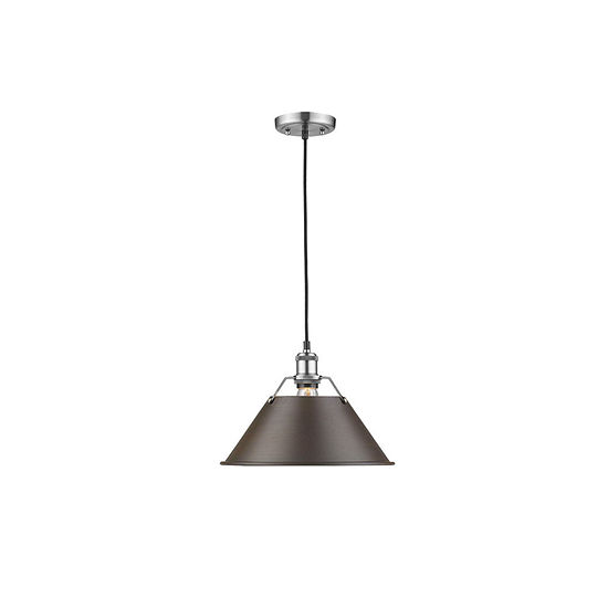 "Orwell 1-Light Pendant 14"" in Pewter"""