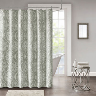 Madison Park Waylon Jacquard Shower Curtain