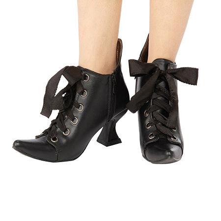 History of Victorian Boots & Shoes for Women Alexa Lace Bootie Womens Footwear 8  Black $30.39 AT vintagedancer.com