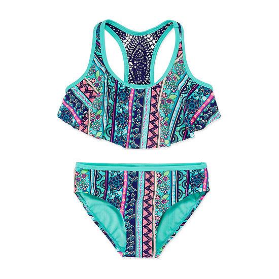 Arizona Boho Chic Flounce Bikini Set - Girls 7-16