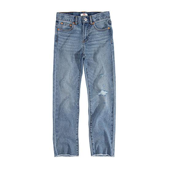Levi's Girls High Waisted Straight Leg Jean Big Kid