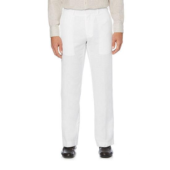 Cubavera Mens Mid Rise Original Fit Flat Front Pant
