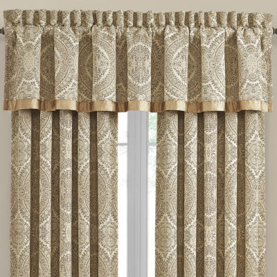 Queen Street Santorina Rod-Pocket Tailored Valance