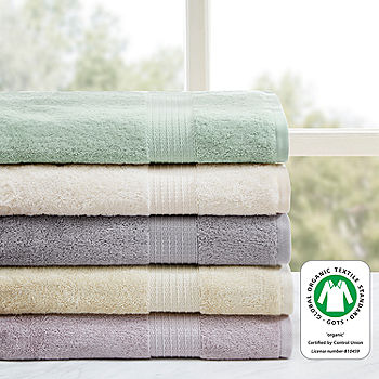 Madison Park Organic Cotton Solid 6 Pc Bath Towel Set Jcpenney