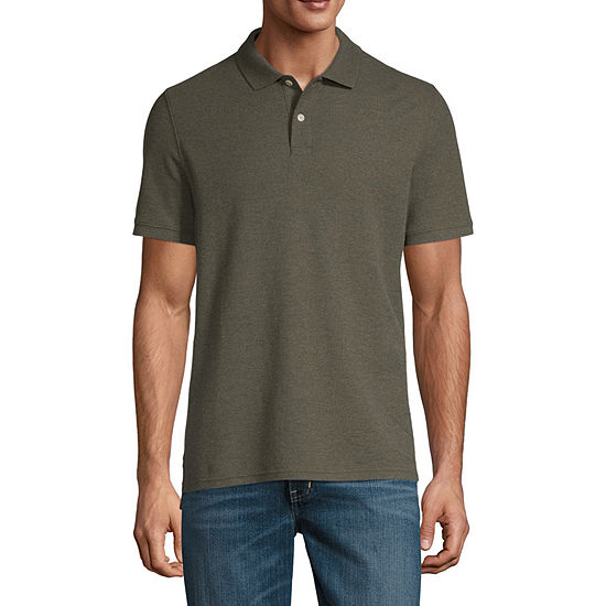 St John S Bay Mens Short Sleeve Polo Shirt Jcpenney