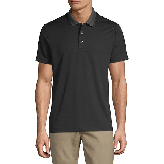 Axist Mens Short Sleeve Button-Front Shirt