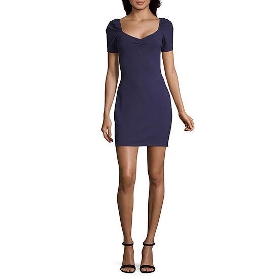 Society And Stitch Short Sleeve Bodycon Dress-Juniors