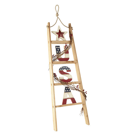 JCPenney Home Americana USA Ladder Decor