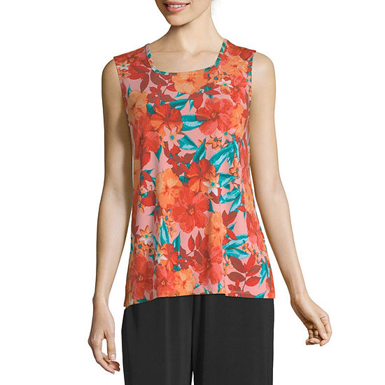 east 5th Womens Round Neck Sleeveless Shells