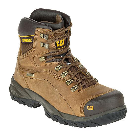 25e246d798f2 Cat Mens Diagnostic Wp St Slip Resistant Steel Toe Work Boots Lace-up -  JCPenney