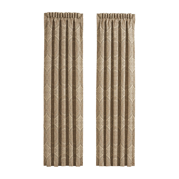Queen Street Santorina Pair Rod-Pocket Curtain Panels