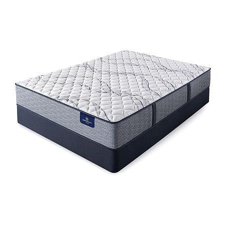 Serta Perfect Sleeper Shelburne Extra Firm - Mattress + Box Spring, Split Queen, Blue