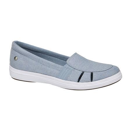Grasshoppers Womens Janis Slip-On Shoes, 7 Medium, Blue