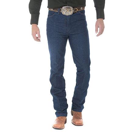 Wrangler Slim Fit Original Cowboy Cut Jeans, 36 32, Brown