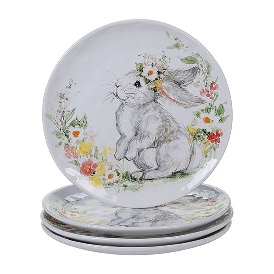 Certified International Sweet Bunny 4-pc. Dinner Plate