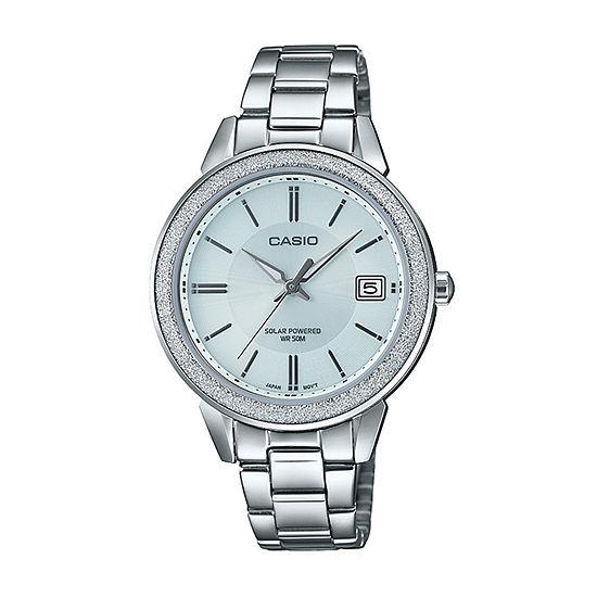 Casio Womens Silver Tone Stainless Steel Bracelet Watch - Ltps200d-7av
