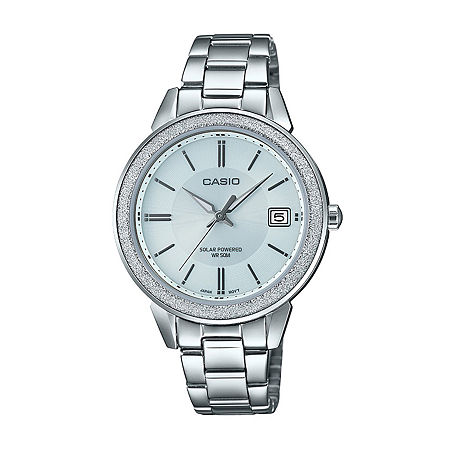 Casio Womens Silver Tone Stainless Steel Bracelet Watch - Ltps200d-7av, One Size