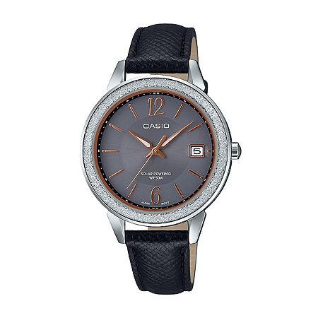 Casio Womens Black Leather Strap Watch-Ltps200l-1av, One Size