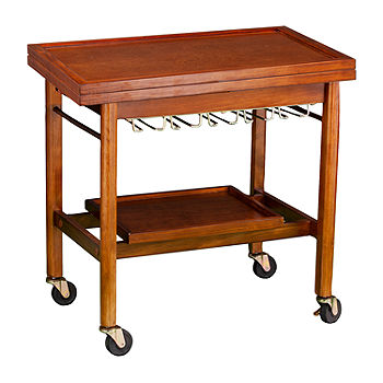 Southern Enterprises Karymore Wood Top Kitchen Cart Ka1012634 Color Dark Tobacco Jcpenney