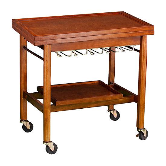 Southern Enterprises Karymore Wood-Top Kitchen Cart