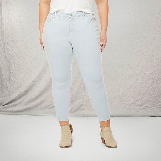 a.n.a-Plus Womens Skinny Ankle Jean