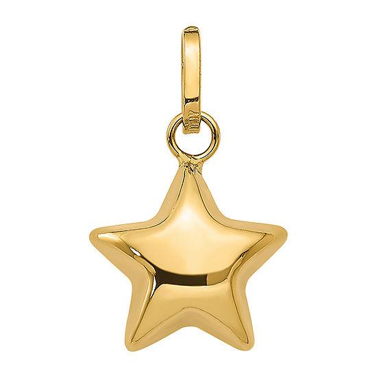 Womens 14K Gold Star Pendant