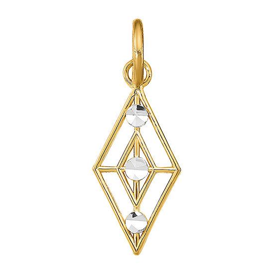 Womens 14K Gold Diamond Pendant