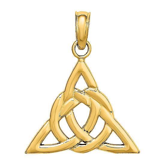 Celtic Trinity Knot Womens 14K Gold Pendant
