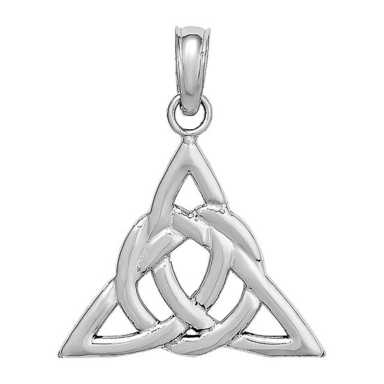 Celtic Trinity Knot Womens 14K White Gold Pendant