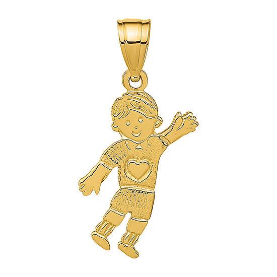 Boy Womens 14K Gold Pendant