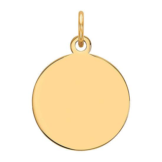 Womens 14K Gold Round Pendant