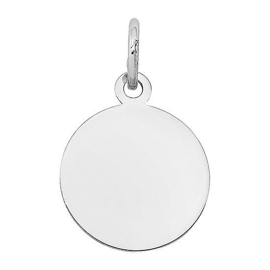 Womens 14K White Gold Round Pendant