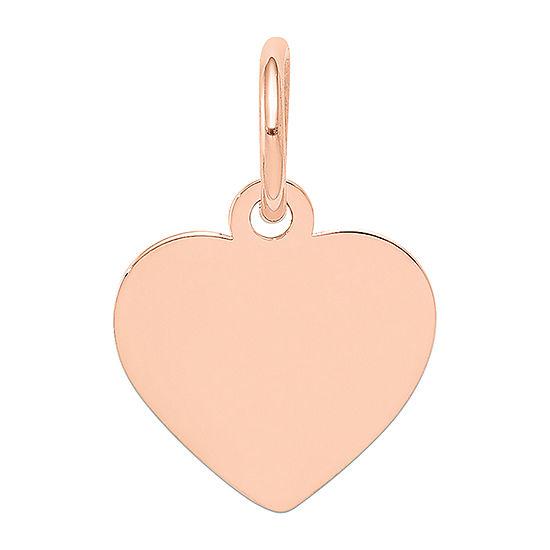 Womens 14K Rose Gold Heart Pendant