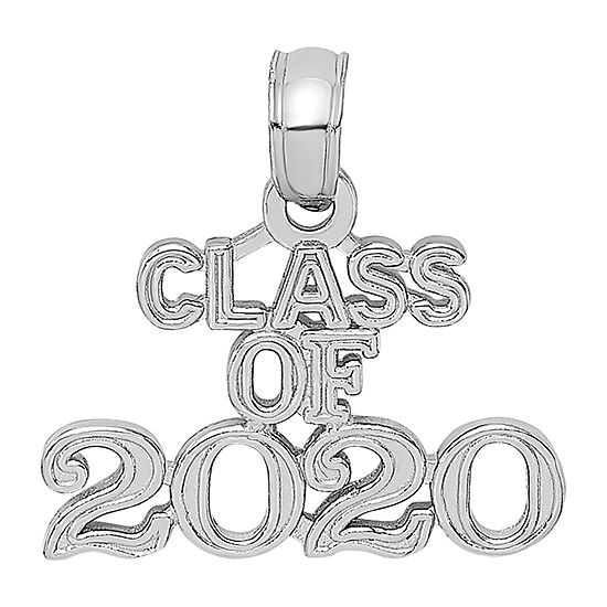 Class Of 2020 Womens 14K White Gold Pendant