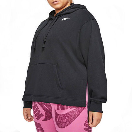 Nike Womens Hooded Neck Long Sleeve Hoodie Plus, 3x , Black