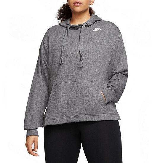 Nike Womens Hooded Neck Long Sleeve Hoodie Plus